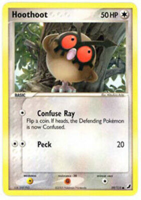 1x - Hoothoot - 59/115 - Common NM, English Pokemon EX Unseen Forces