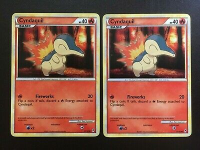 CYNDAQUIL 55/95 Call of Legends - Non Holo -  Pokemon cards x 2