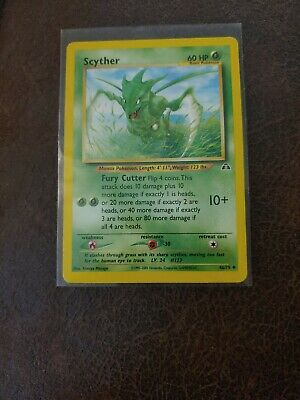 Uncommon 2001 Scyther Mint Neo Discovery #123 46/75 Pokemon Card