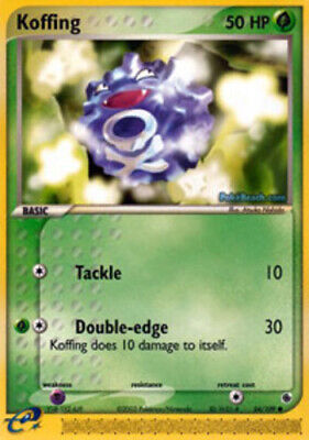 1x - Koffing - 54/109 - Common NM Pokemon EX Ruby and Sapphire