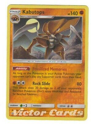 Pokemon Kabutops - 78/181 - Reverse Holo - Team Up - LP