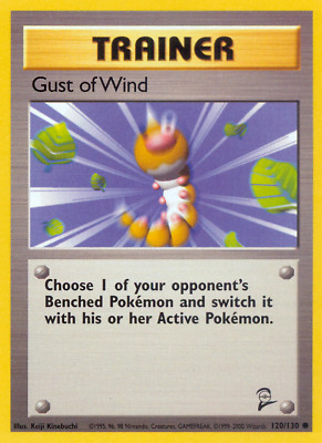 120/130 Gust of Wind - Base Set 2 - Common Pokemon TCG Card
