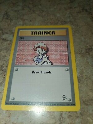 Trainer Bill Pokemon Card 118/130 Base Set 2 original great condition