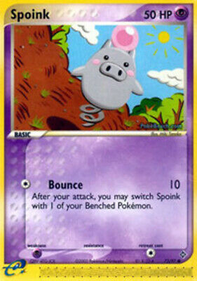 1x - Spoink - 73/97 - Common NM Pokemon EX Dragon
