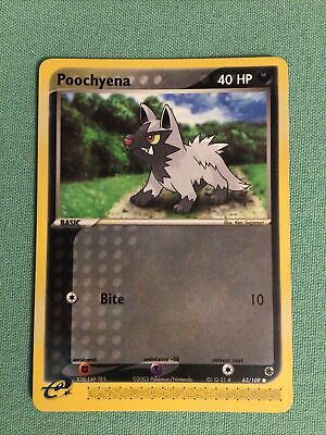 POOCHYENA  63/109 And 64/109 EX Ruby & Sapphire Pokemon Both Cards Are New