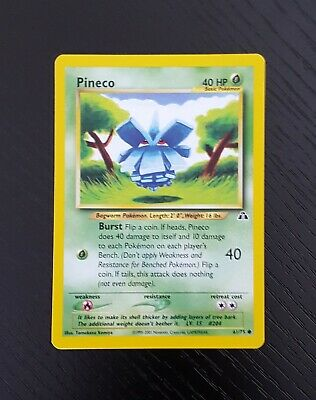 Pineco 61/75 - Common - Unlimited - Pokemon WOTC Neo Discovery Card - M/NM