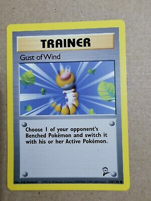 Base set 2 Gust of Wind WOTC Vintage Pokemon card 120/130