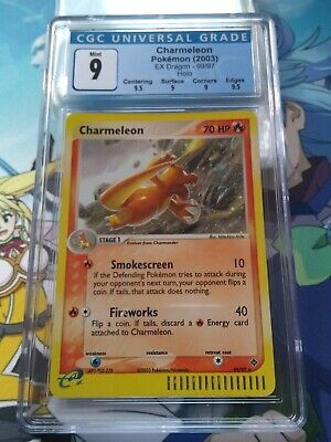 CGC 9 Mint Charmeleon Secret Rare 99/97 EX Dragon Pokemon - 69002