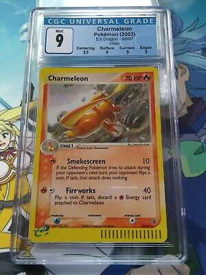 CGC 9 Mint Charmeleon Secret Rare 99/97 EX Dragon Pokemon - 69004