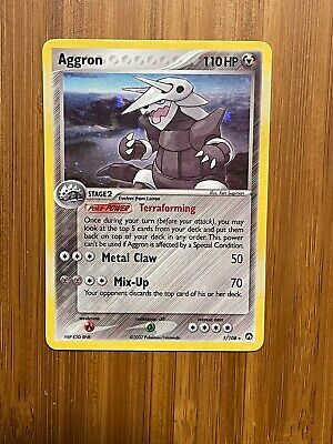 Pokemon Aggron 1/108 EX Power Keepers Holofoil Rare Lightly Played