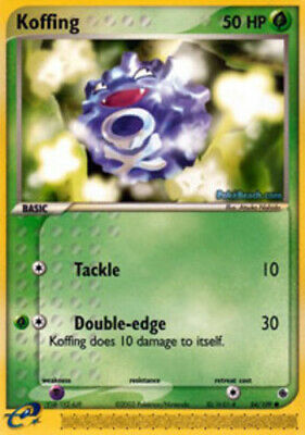1x - Koffing - 54/109 - Common DMG Pokemon EX Ruby and Sapphire
