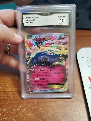 Xerneas EX XY Base Set 97/146 Ultra Rare Pokemon TCG GMA 10!