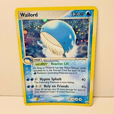 Wailord 14/92 Holo EX Legend Maker Pokemon Card Excellent