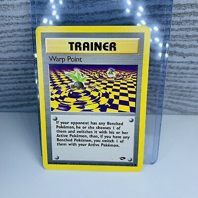 1x Warp Point Trainer 126/132 Gym Challenge Pokemon Card  Played