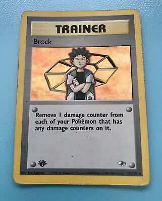 Pokemon 1st Edition Gym Heroes - Brock (Trainer) - 15/132 *Moderately Played*