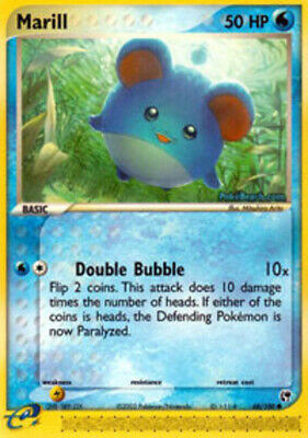 1x - Marill - 68/100 - Common - Reverse Holo PL/MP, English Pokemon EX Sandstorm
