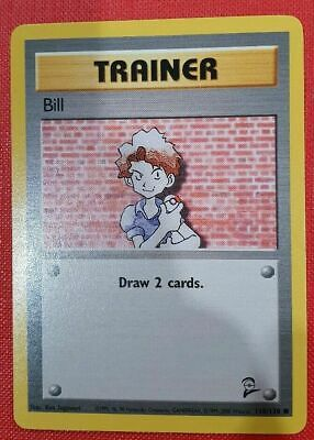 Pokemon Card Bill Trainer 118/130 - Base Set 2-MINT never played