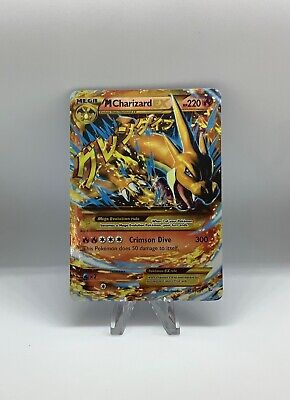 SECRET RARE Mega M Charizard EX Pokemon 107/106 XY Flashfire Holo Foil Zard NM