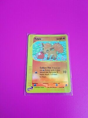 Pokemon Vulpix Reverse Holo Aquapolis 116/147 Excellent