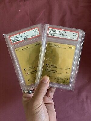Pokemon - PSA 9 Gold Zekrom & Reshiram Secret Rare Set - Legendary Treasures B&W