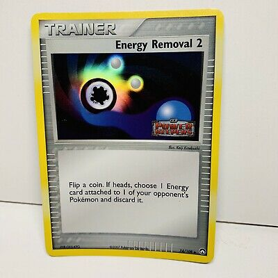 Energy Removal 2 74/108 Trainer Reverse Holo EX Power Keepers Pokemon Card