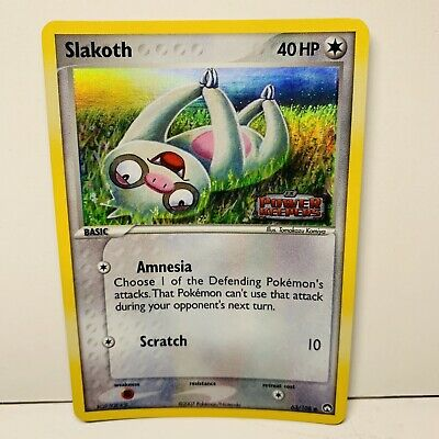 Slakoth 63/108 Reverse Holo Stamped EX Power Keepers Pokemon Card