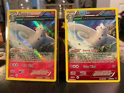 Pokemon TCG: Reverse Holo AND Holo Togekiss - 46/108 - Roaring Skies 2 Cards! NM