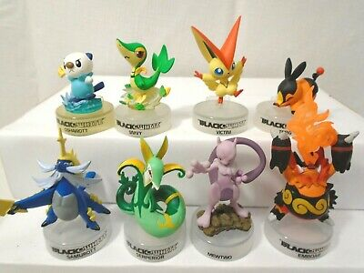 Vintage Pokemon Black and White Figures with Stands Promo Bottle Cap White
