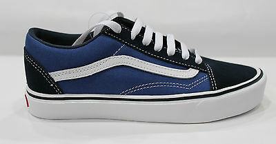 Scarpe Vans Old Skool Lite Plus fondo in eva Sneakers Unisex Navy White V4O6IVF