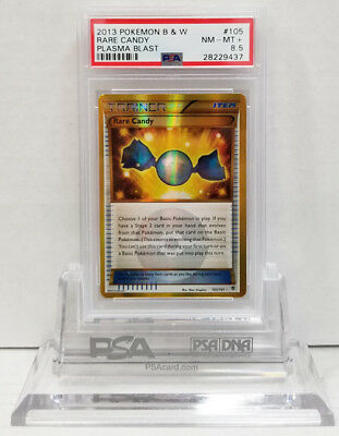 Pokemon PLASMA BLAST RARE CANDY 105/101 GOLD RARE HOLO PSA 8.5 NM #28229437