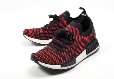 new style a9035 041a8 New Adidas NMD R1 PK STLT Red Solid   CQ2385   Men s Boost Primeknit Core  Black