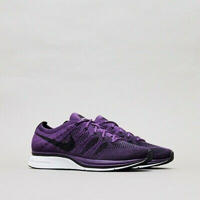 fff0a25f8548f Nike Flyknit Trainer NIGHT PURPLE RACER BLACK WHITE AH8396-500 Men s Running