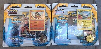 Pokemon Sun & Moon 3 Pack Set Of (2) Litten & Togedemaru Promo Free Shipping