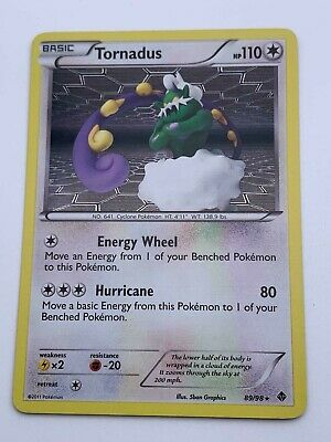 Pokemon💎Tornadus Reverse Holo💎2011 - Emerging Powers - #89/98🌟