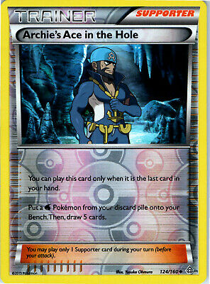 Primal Clash Archie's Ace in the Hole 124/160 Reverse Holo Trainer Pokemon Card