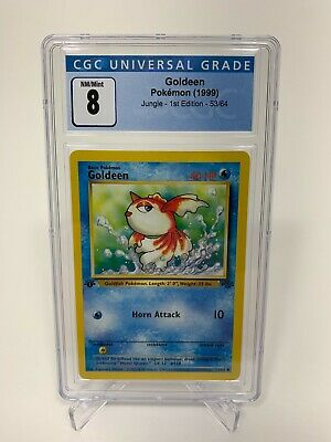 Pokemon 1999 Jungle 1st Edition Goldeen 53/64 CGC Graded 8 Like PSA BGS 10? NM/M
