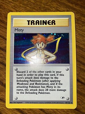 Pokemon - Misty - (Trainer) Holofoil Rare! 18/132 - Gym Heroes - See Pics!!!