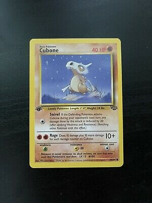 Cubone 50/64 1999 1st Edition Pokemon Jungle Set WOTC Near Mint