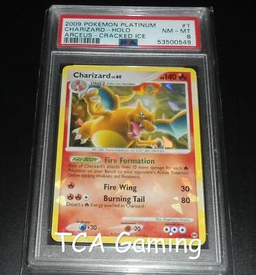 PSA 8 NM-MINT Charizard 1/99 Arceus CRACKED ICE Promo HOLO Pokemon Card