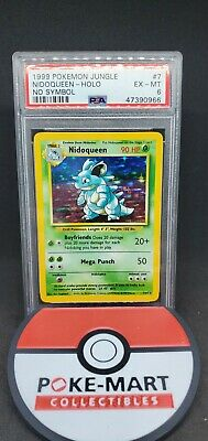 1999 Pokemon PSA 6 No Symbol Nidoqueen Holographic 7/64 Jungle Set