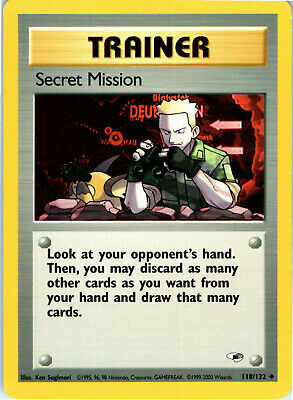 Gym Heroes Unlimited Secret Mission 118/132 Pokemon Trading Card LP NM