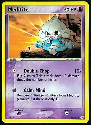 Pokemon Card Meditite (EX Hidden Legends) 65/101 EXC/NM Non-Holo Common TCG!!!!!