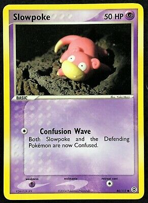 Pokemon Card Slowpoke (EX FireRed LeafGreen) 80/112 NEAR MINT Non-Holo Common!!!