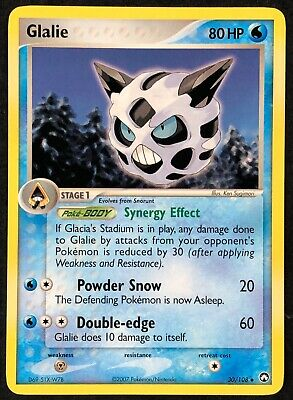 Pokemon Card Glalie (EX Power Keepers) 30/108 NEAR MINT Non-Holo Uncommon TCG!!!