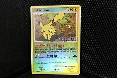 Pokemon Pikachu reverse holo 94/123 Diamond & Pearl - Mysterious Treasures LP