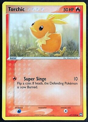 Pokemon Card Torchic (EX Power Keepers) 67/108 EXC/NM Non-Holo Common TCG!!!!!!!