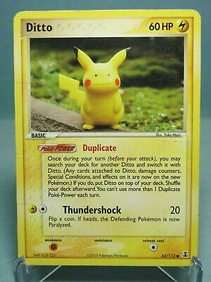 Ditto 63/113 EX Delta Species 2005 Pikachu? Pokemon Card - Moderately Played