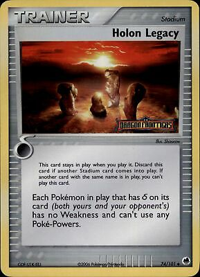 Pokemon Card Holon Legacy (EX Dragon Frontiers) 74/101 PL/EXC Stamped Rev-Holo!!