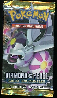 2008 Pokemon Diamond And Pearl Great Encounters Booster Pack Palkia Artwork