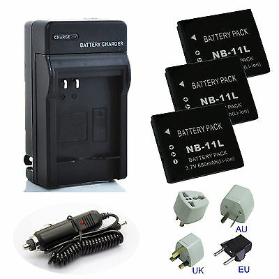 Батареи Replacement NB-11L NB11L Battery Charger